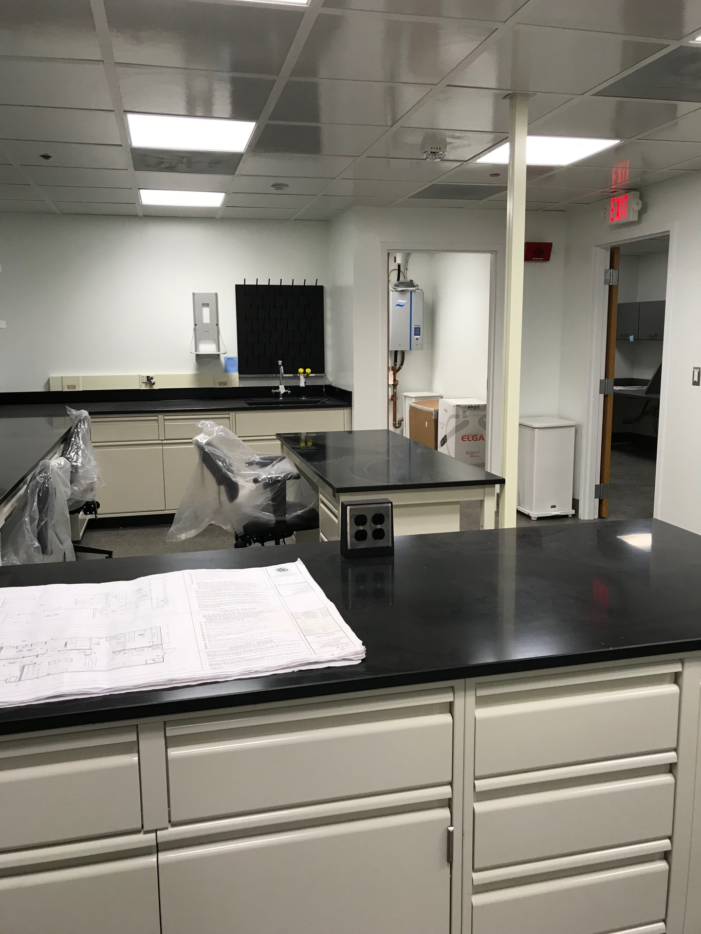 Lab space is ready for move-in!